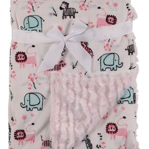 NWTs!💎 Adorable Zoo Animals Baby Blanket 🎀💝